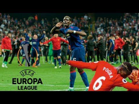 Paul Pogba dance after winning the UEFA Europa League