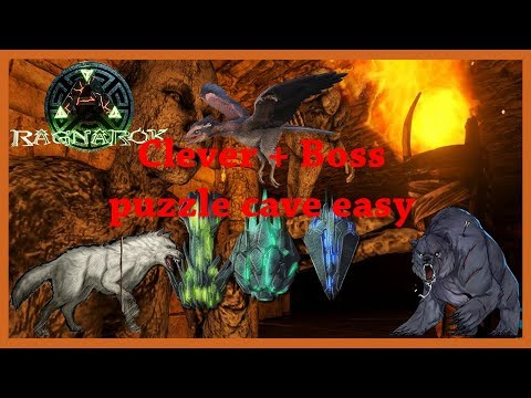 Ark Ragnarok - Soloing the puzzle cave clever + boss easy fully guide