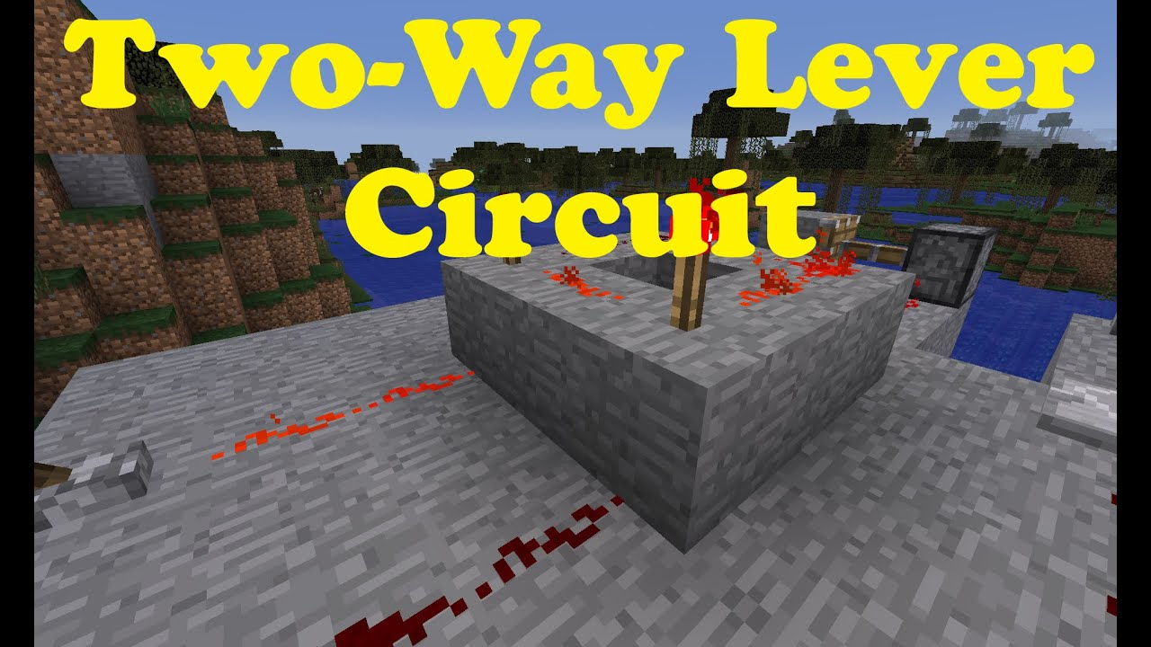 Minecraft 3 Way Switch Wiring Diagram Manual Of Redstone Diagrams Tutorial Two Levers Youtube Rh Com