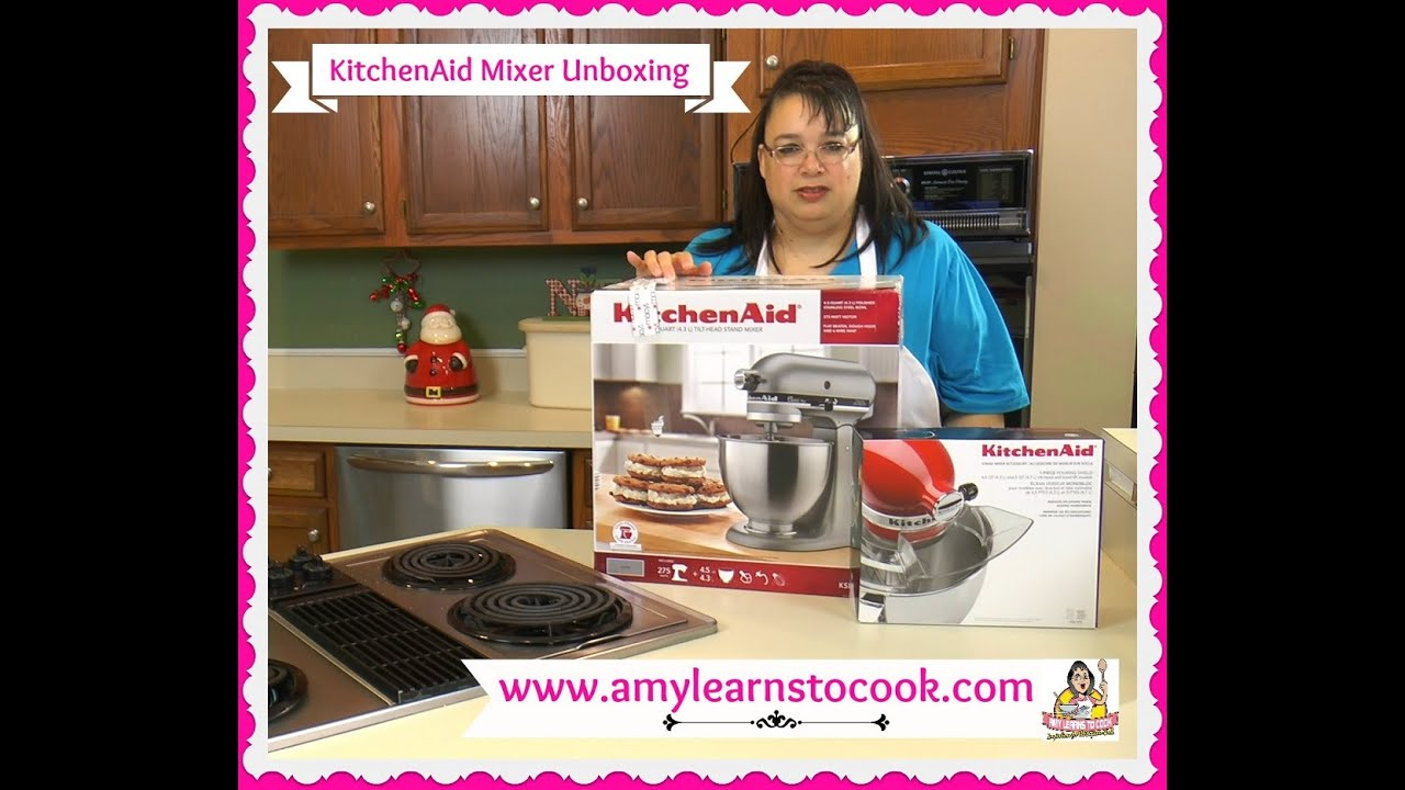 KitchenAid Stand Mixer Classic Plus 4.5 Quart Mixer Unboxing ~ KSM75SL or  KSM75WH