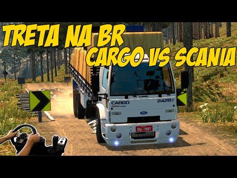 TRETA NA BR CARGO 24-28 VS SCANIA - MAPA EAA 4.0 - VOLANTE G27!!!
