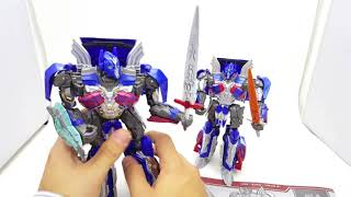 Видеобозор іграшки Оптімус Прайм з кф ''Останній Лицар'' Deformation VS Hasbro Voyager