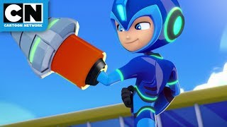 Mega Man: Fully Charged | Mega Man vs Drill Man | Cartoon Network
