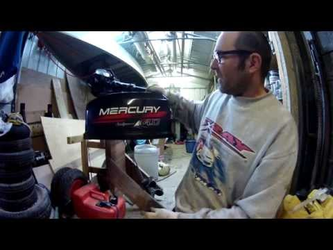 Replacing the impeller on a 4hp Mercury outboard to fix the water pump Part 2