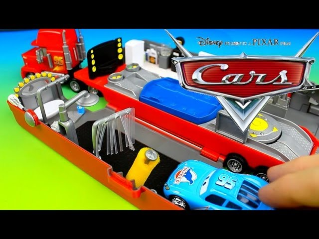 Disney Pixar Cars Lightning Mcqueen Mater Have Fun With Modified Mack Youtube
