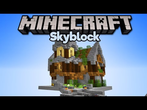 Building a House in Skyblock! ▫ Minecraft 1.15 Skyblock (Tutorial Let's Play) [Part 12]