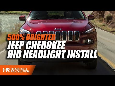 Jeep Cherokee 2014-2017 HID Headlight Install