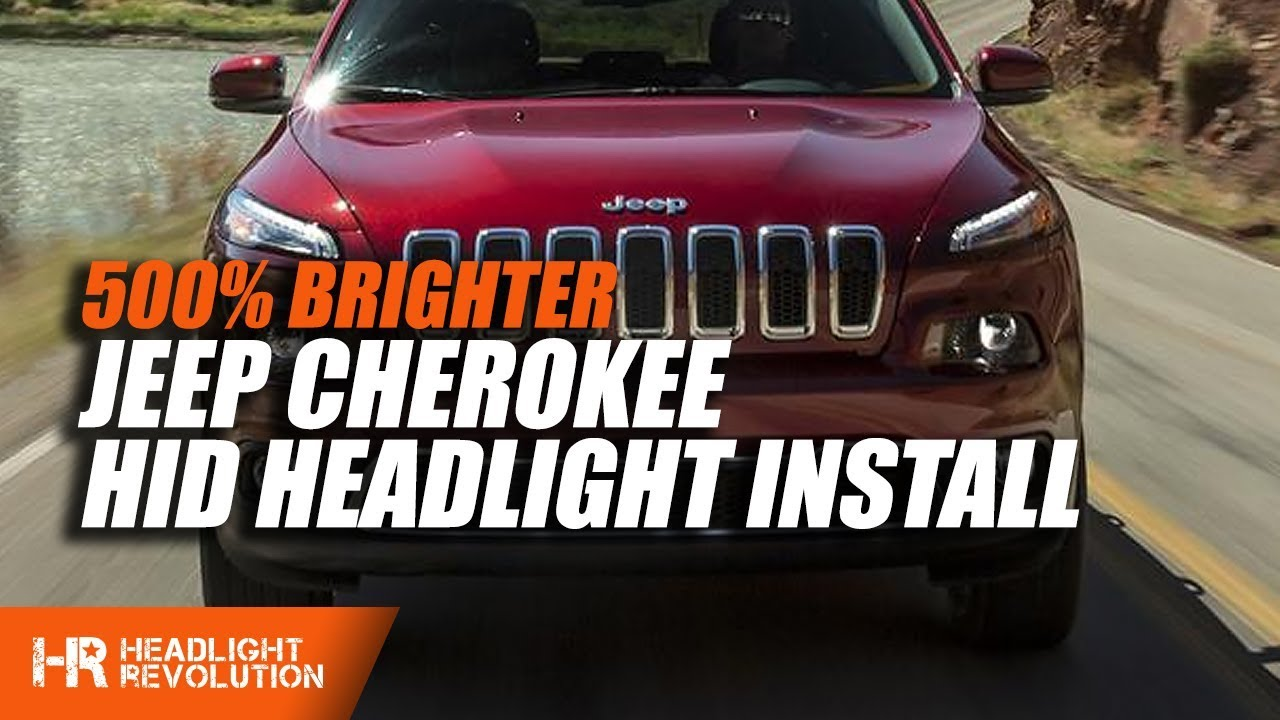 Jeep Cherokee 2014 2017 Hid Install Youtube