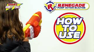 Ryan's Dart Tag | Instructional Video | How to Use the Renegade Pump Action Blaster | Ryan's World