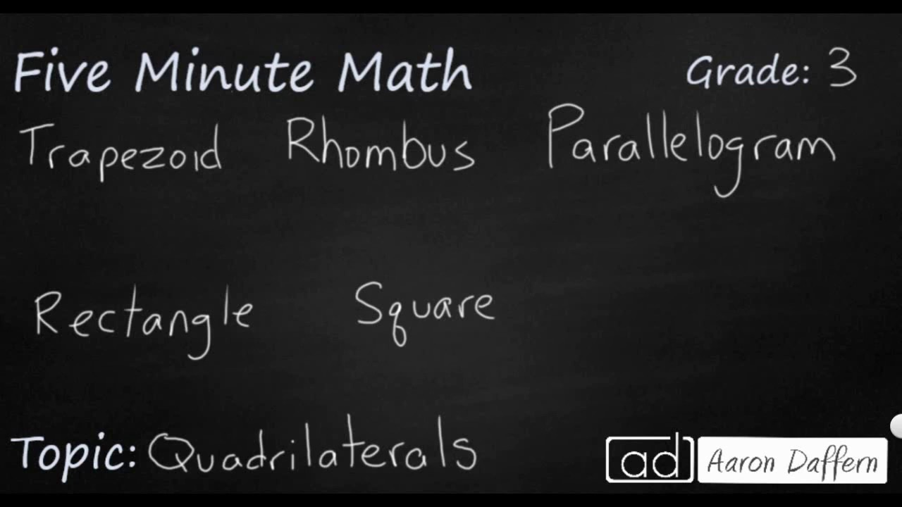 3rd Grade Math - Quadrilaterals