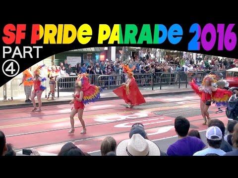SF Pride Parade 2016, Part 4: Hour-long 242-clip compilation/excerpts