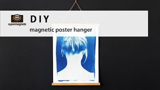 DIY | Magnetic Poster Hanger - How to make at home | supermagnete
