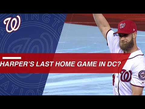 Bryce Harper gets ovation with free agency looming