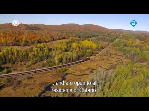 Rail Away & Canada Ontario with English subtitles HD