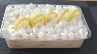 Carlota de limón 🍋🍋🍋y galletas deliciosa , fácil con solo 4 ingredientes !