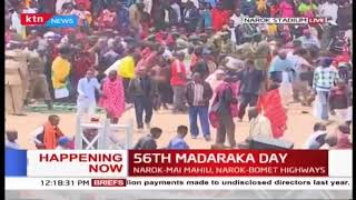 Scuffle ensues as citizens make their way to main grounds during #MadarakaDay2019