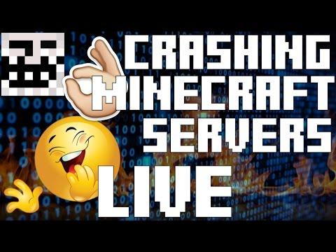 CRASHING MINECRAFT SERVERS LIVE (200% MORE TRIGGERING)