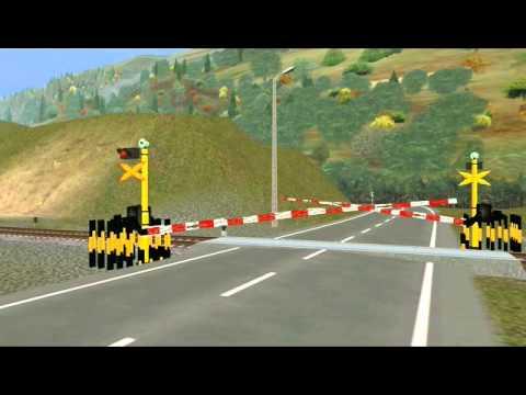 Trainz 2009 Add On Indonesia - Palang Sepur Rusak Menthul-menthul