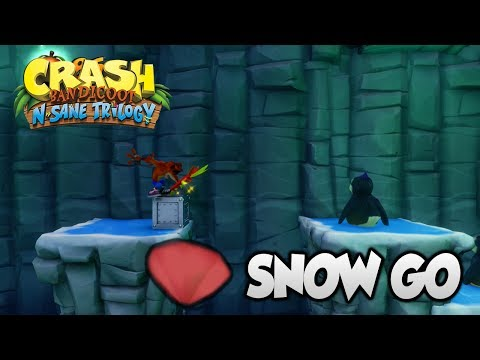 "Crash Bandicoot 2 - ""Snow Go"" Red Gem (PS4 N Sane Trilogy)"