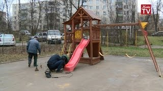 В округе ремонтируют детские игровые площадки(, 2016-04-19T16:01:01.000Z)