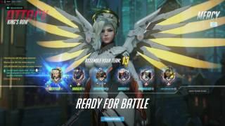 Overwatch competitive gameplay Dva Mercy