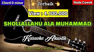 Sollallahu'ala muhammad | Karaoke Akustik | Nada Cowok