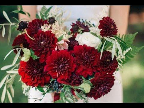 red dahlia wedding bouquet youtube
