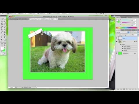 Photoshop - การสร้างกรอบรูป Part 2