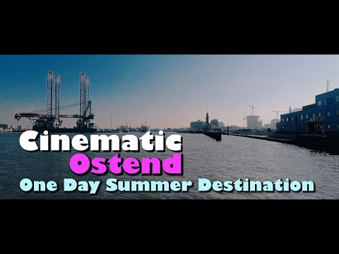 Cinematic View Of Ostend Beach, Belgium | A Seaside Summer Beach Destination | A Day Out In Ostend