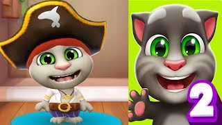 My Talking Tom 2 Android/IPAD Gameplay Ep 2 (Pirate Captain) Unlocked | Outfit7