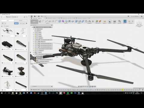 In depth Fusion 360 Tutorial, Drone design, Trailer
