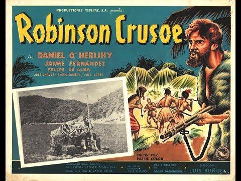Robinson Crusoe - Luis Buñuel - 1954 - Película completa subtitulada en Español
