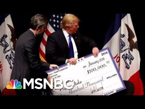 "Trump Fdn. Dissolved Found To Be A ""Little More Than A Checkbook"" To Serve Trump 