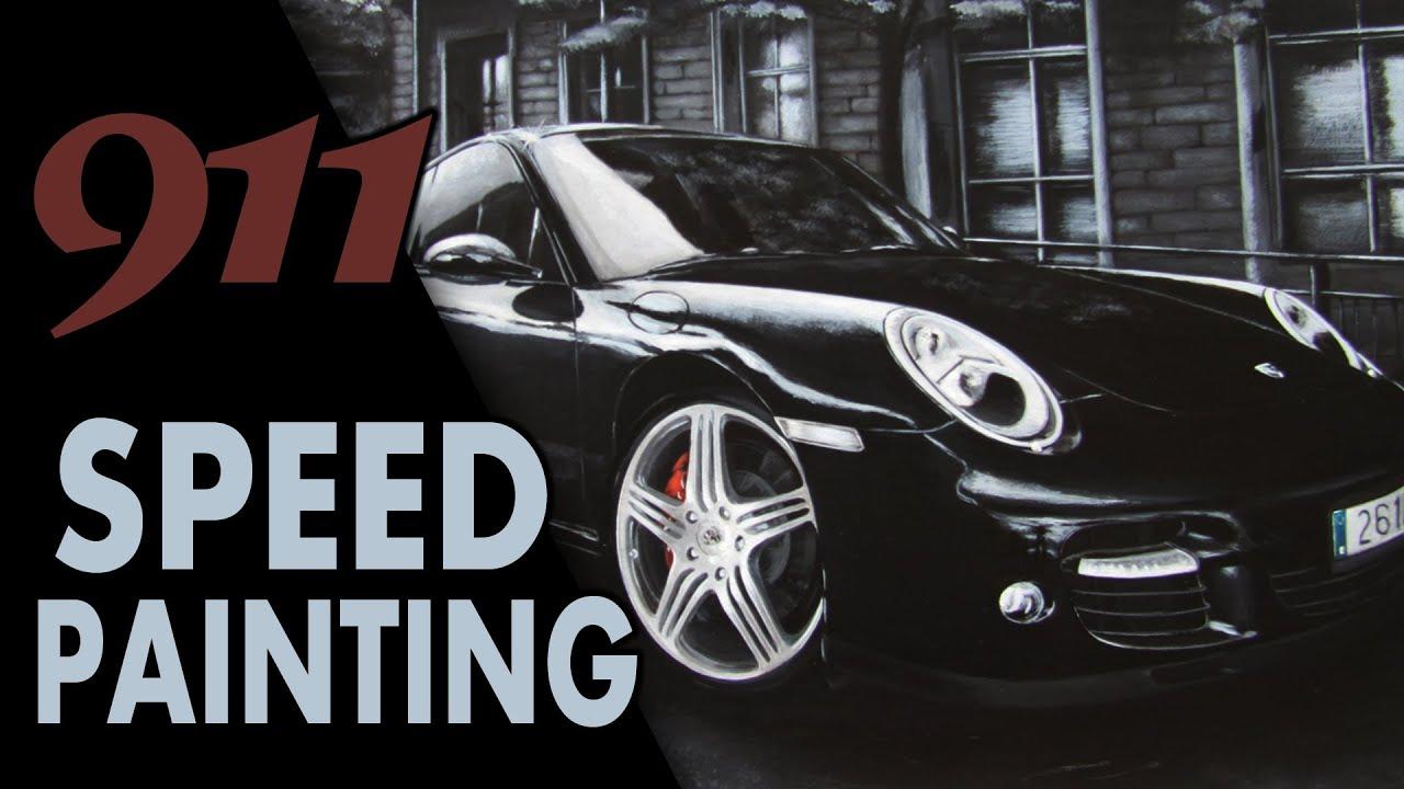 Acrylic Speed Painting; Porsche 911