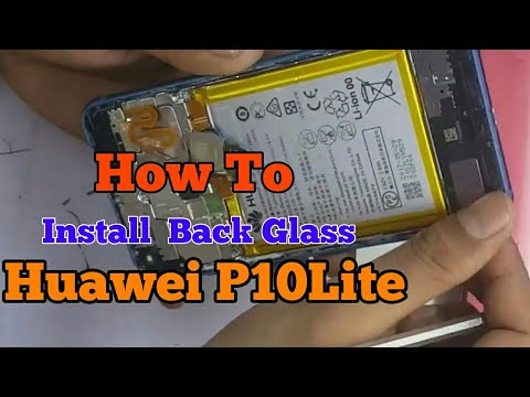 Huawei P10 Lite Back Glass and Fingerprint  Button Fix Replacement