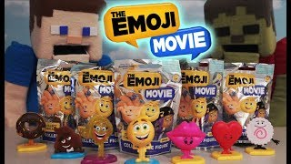 the emoji movie blind bags toys action figure collectible set gene mystery surprise unboxing trailer