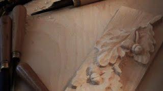 Резьба по дереву. Дубовые листья. Часть 1 (процесс резьбы).(, 2016-06-06T20:34:39.000Z)