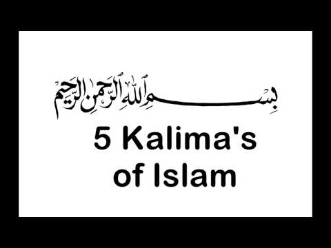 5 Kalima's in English || Quranic Verses || For Kids ||