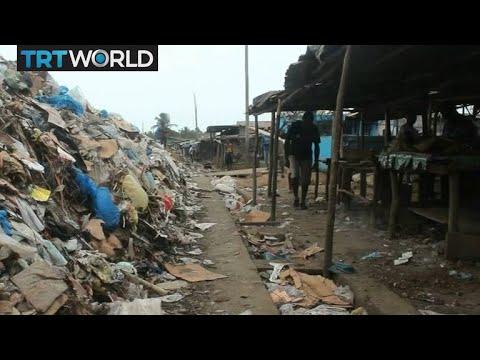 Liberia's Waste Crisis: Monrovia's biggest market covered in rubbish