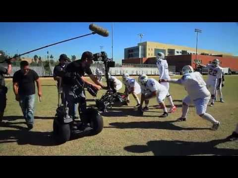 Steadicam/Segway on a 3D football movie (Behind the scenes)