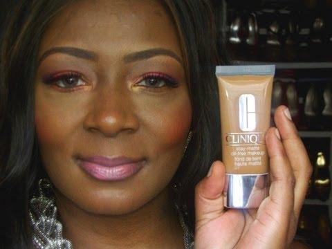Clinique Stay Matte Oil Free Foundation Review Swatch And Demo