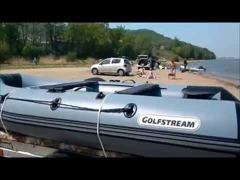 Ходовые испытания лодки  Golfstream