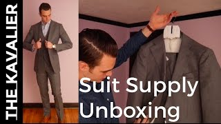 Unboxing My First SuitSupply Suit | Pure 120s Wool Suit Review