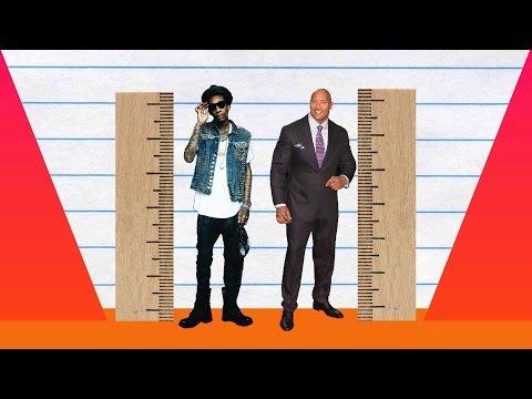 How Much Taller? - Wiz Khalifa vs Dwayne