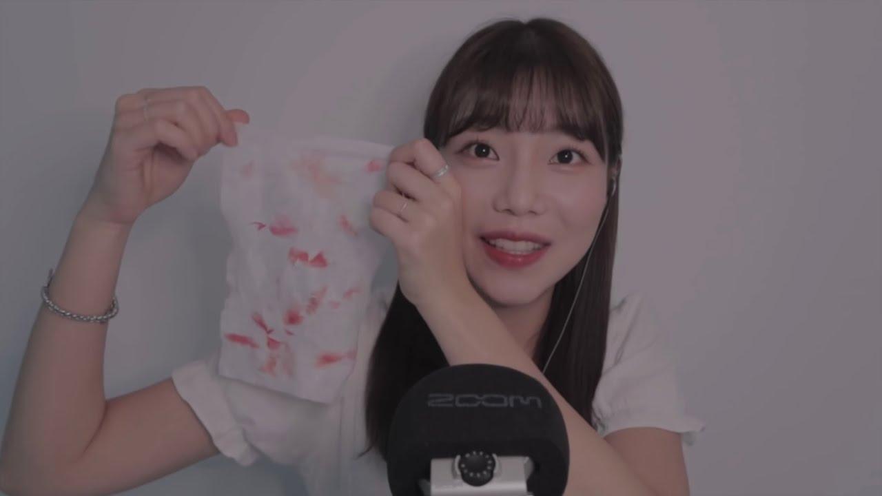 [ASMR] 소근소근 립 제품 소개💋 | 입소리+팅글보장 | Lipstick try on