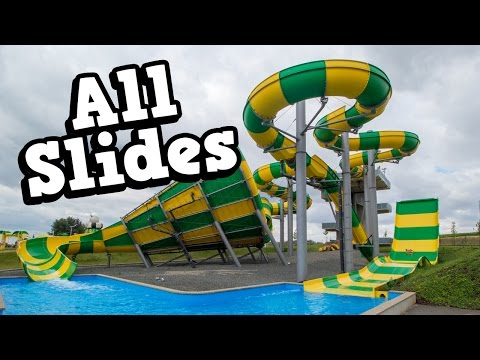 Aqualand Moravia - All Water Slides / Tobogany Onride POV