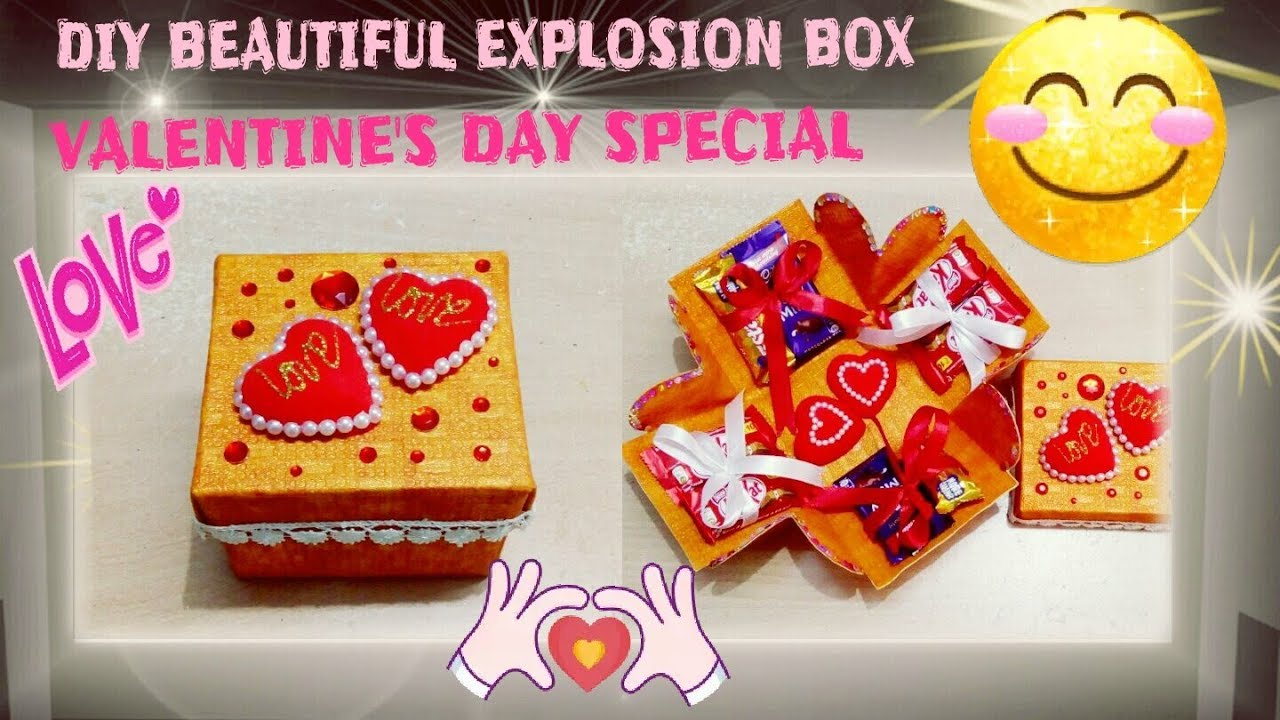 Explosion box tutorial valentine s anniversary gift ideas youtube