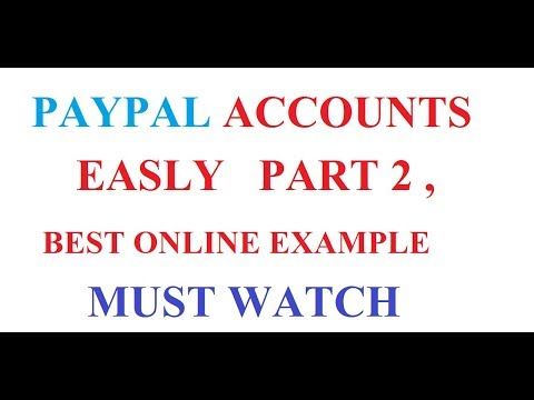 PayPal Accounts : How to Verify a Bank Account for PayPal : hindi : urdu : english