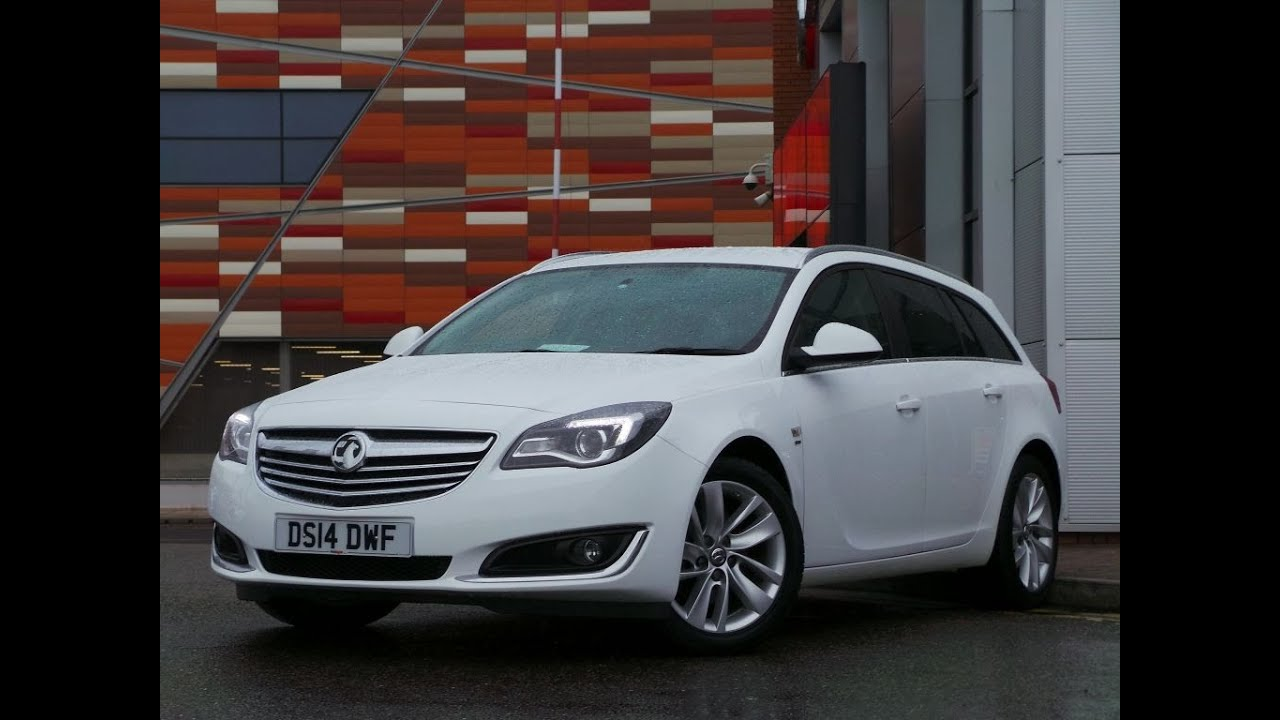 2014 Plate INSIGNIA 2.0 CDTI 163PS ECOFLEX SRI NAV SPORTS TOURER ESTATE  START STOP IN Olympic White   YouTube