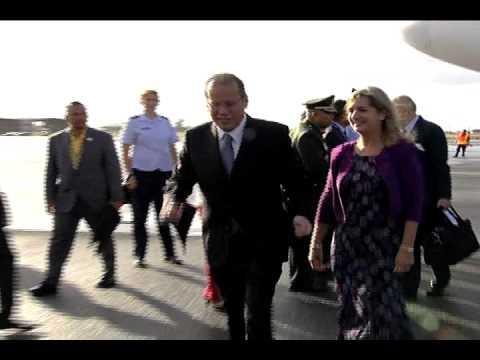 Arrival of H.E Benigno S. Aquino III at Hickam Airbase, Hawaii, USA